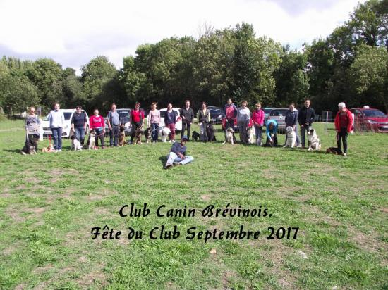 CLUB CANIN BREVINOIS FETE DU CLUB SEPTEMBRE 2017